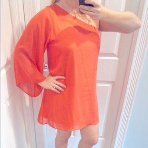 NWT Flowy One Shoulder Dress